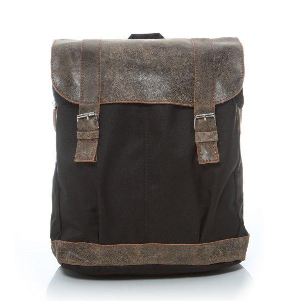 Plecak na laptopa skórzany beż HS29
