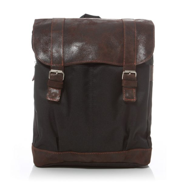 Plecak na laptopa skórzany brązowy HS29