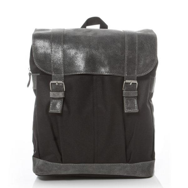 Plecak na laptopa skórzany szary HS29