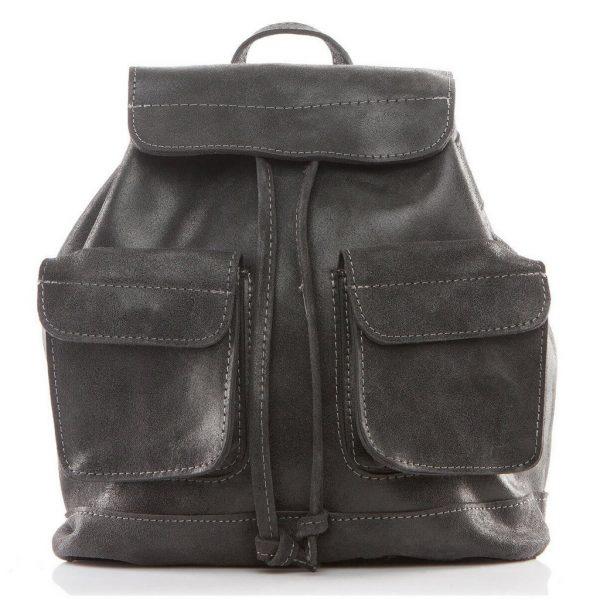 Plecak skórzany damski czarny HS20