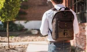 skorzany plecak