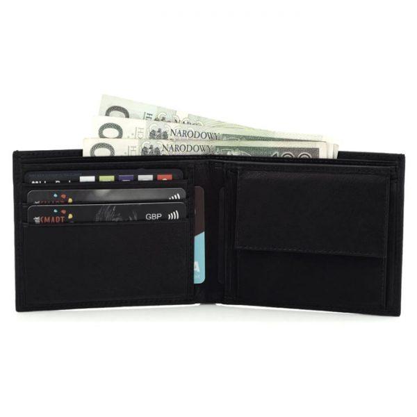 Portfel męski SLIM wallet czarny BG03