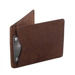 Portfel męski SLIM wallet jasnobrązowy ZC03