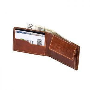 Portfel slim wallet jucht brązowy BW28
