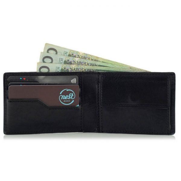 Portfel slim wallet jucht czarny BW28