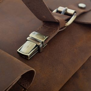 skorzany plecak jasnobrazowy